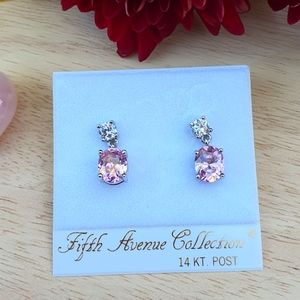 Tickled Pink Cubic Zirconia Earrings